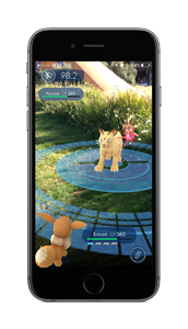 Pokémon GO AR Battle Screenshot
